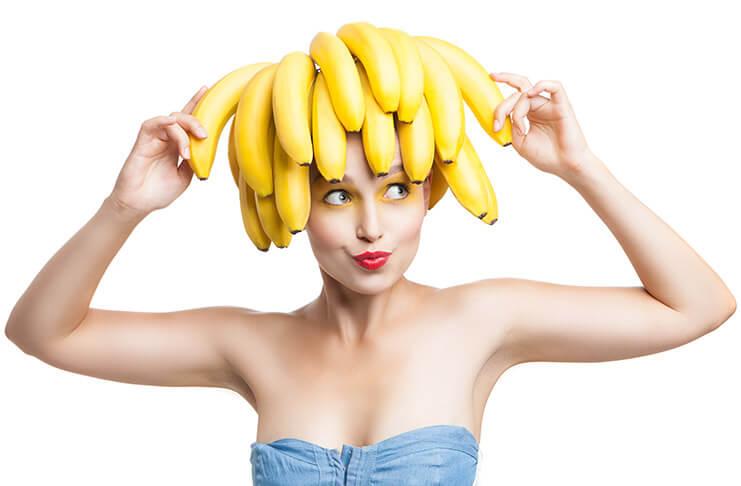 Banana mask for silky hair